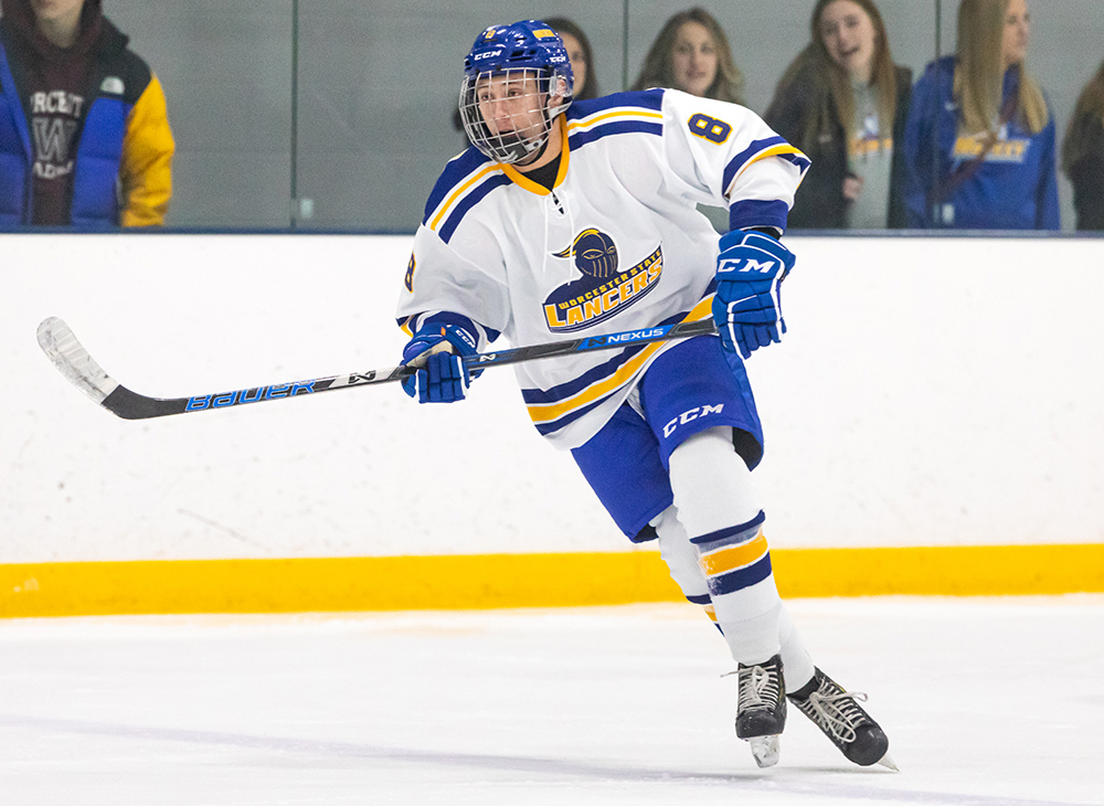 Men's Ice Hockey Bests Salem State to Snap Skid