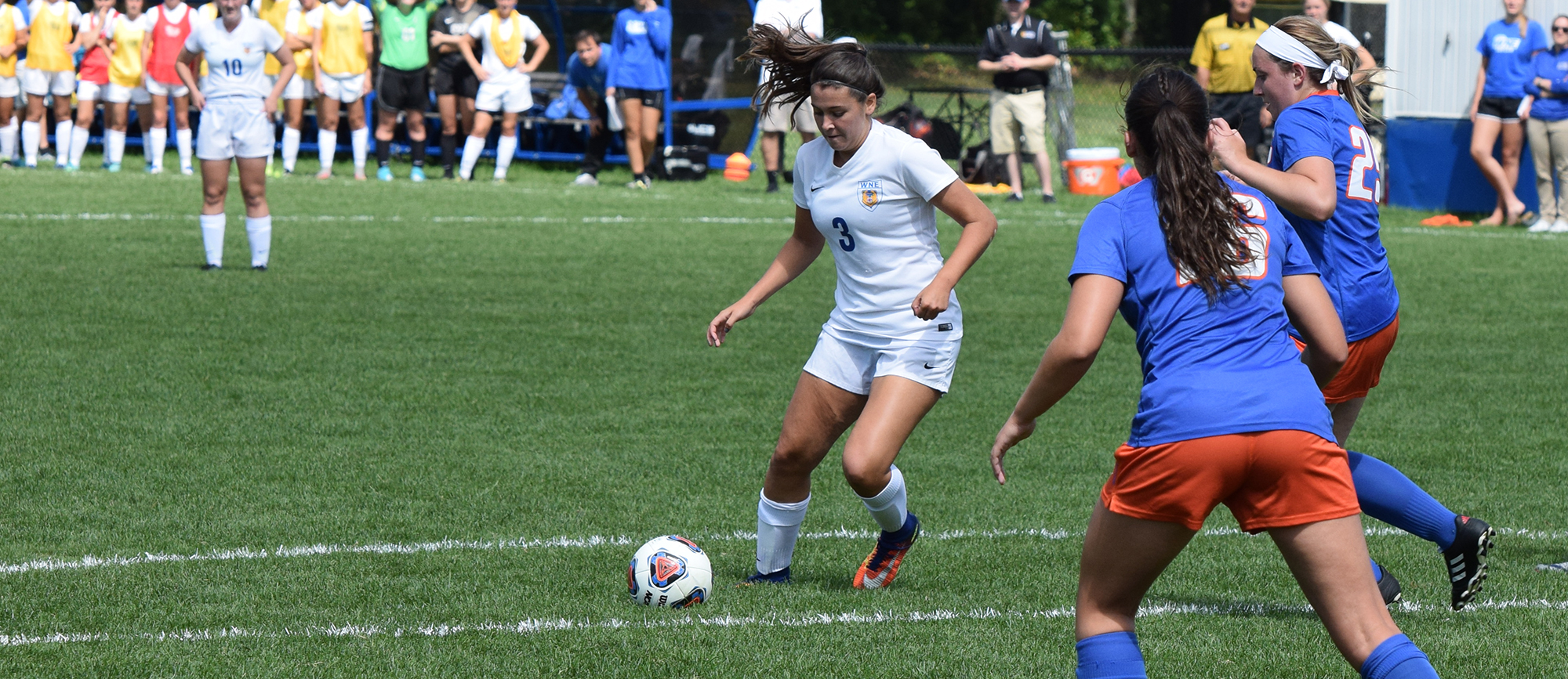 Sophomore Morgan Smith recorded a goal and an assist in Western New England's 2-1 win over Keene State on Saturday. (Photo by Rachael Margossian)
