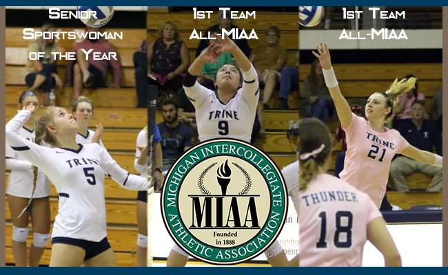 Women's Volleyball Takes Home Three MIAA Honors