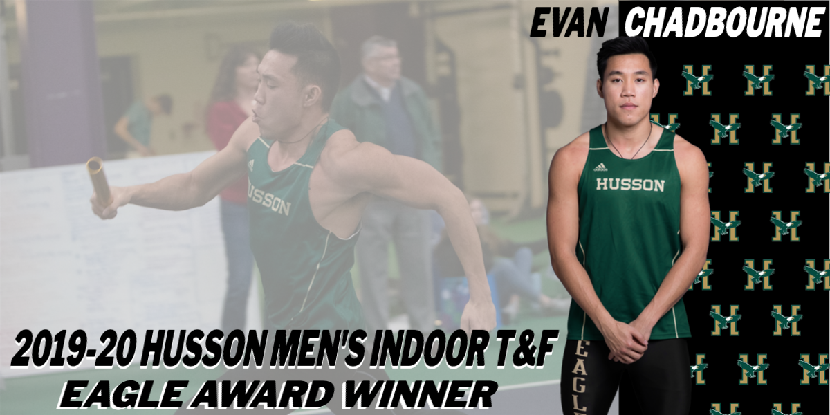 Husson Men's Indoor Track & Field Announces Evan Chadbourne as the 2019-20 Eagle Award Winner