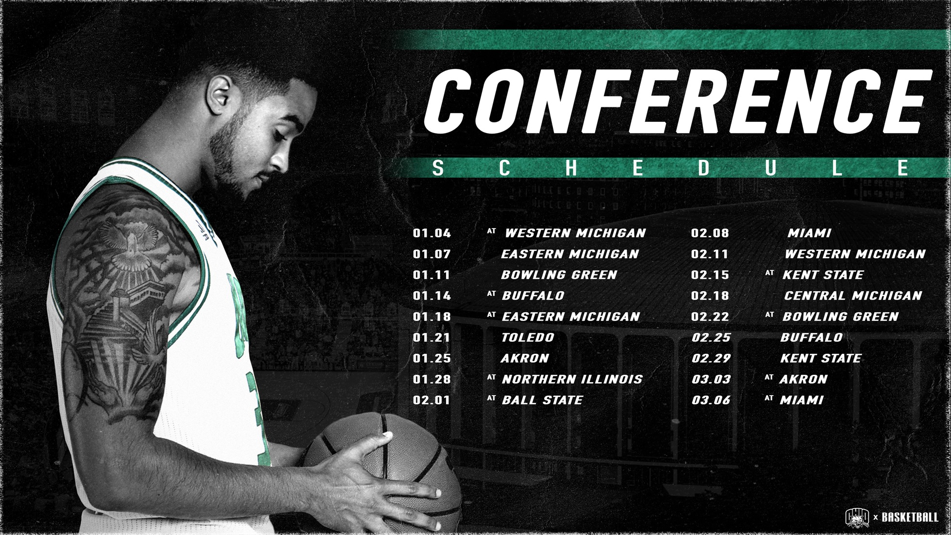 Ohio Men's Basketball's 2020 Conference Schedule Announced