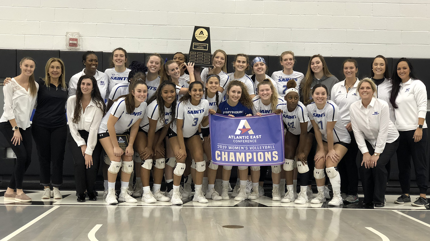 CONFERENCE CHAMPS: Women's volleyball wins second-straight Atlantic East title with sweep of Knights
