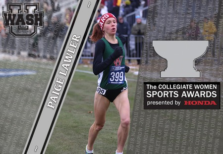 Paige Lawler of Washington University Announced as Cross Country Finalist for DIII Honda Award