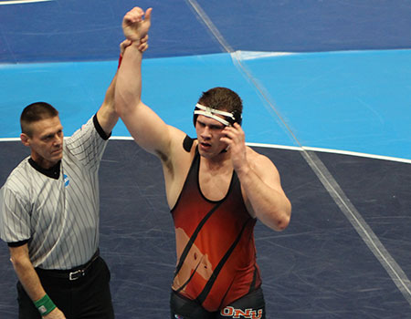 Cody Lovejoy earns All-America honors on Day 1 of 2014 NCAA III Wrestling Championships