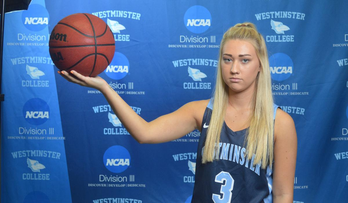 Kendal Miller Brings Down House and MacMurray College in Westminster College Women's Basketball Senior Day Win