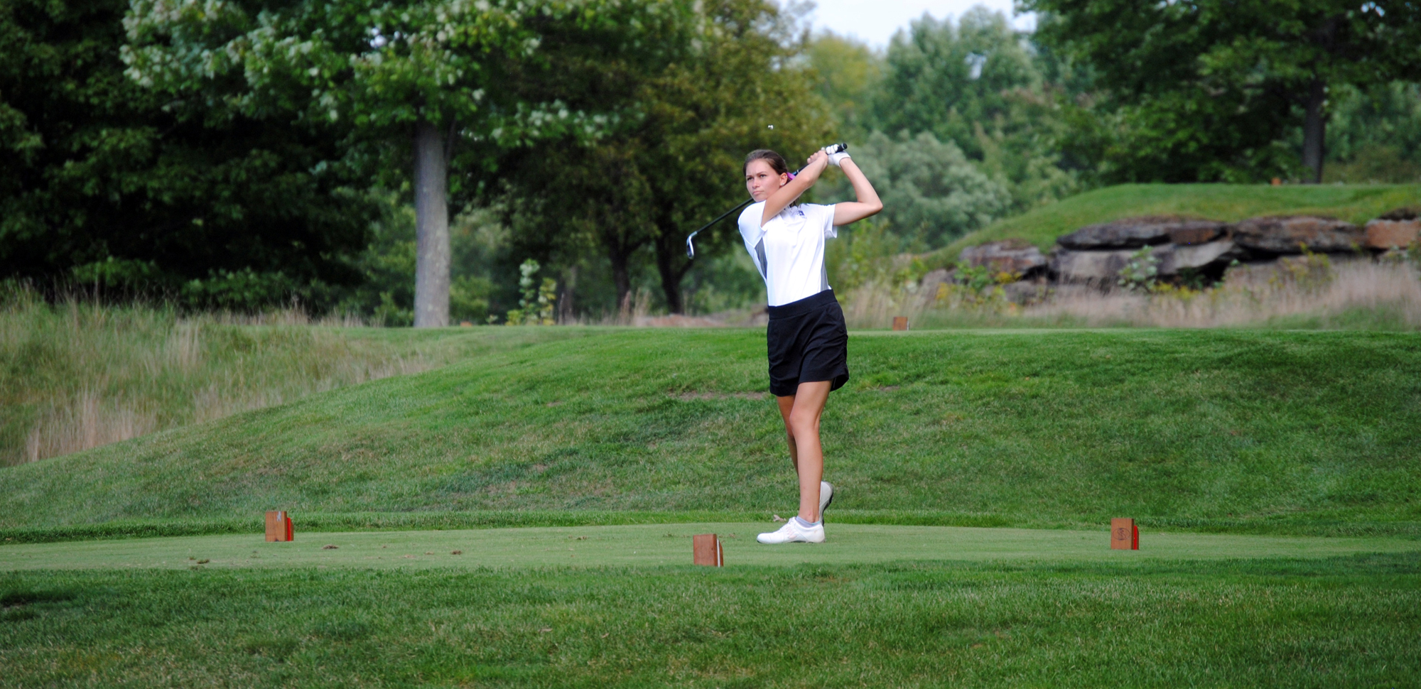 Junior Julie Cranney will serve as a co-captain on the women's golf team this spring.