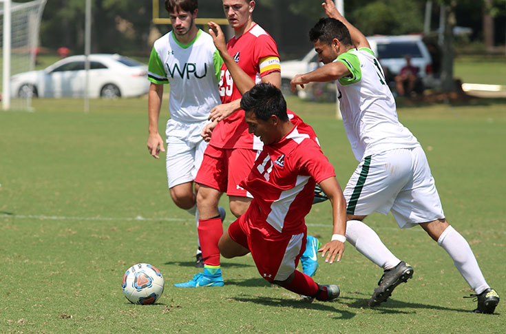 Men's Soccer: Panthers, William Peace play to scoreless draw in USA South game