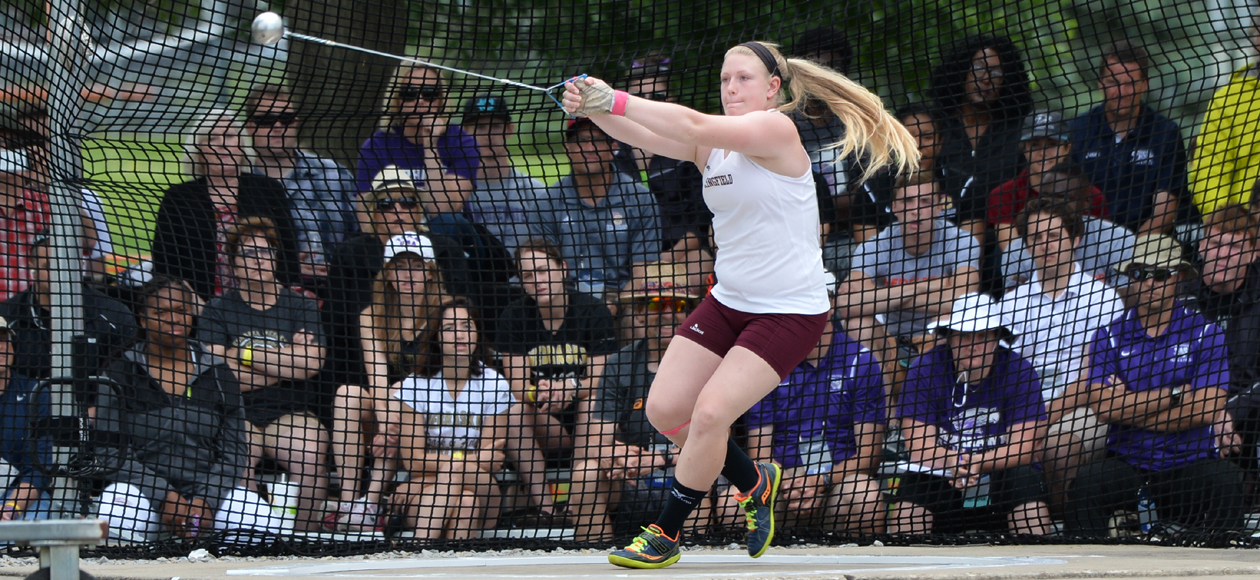 Markos Wins Two Individual Titles for Women's Track and Field at NEWMAC Championships; Named Field Athlete of the Year