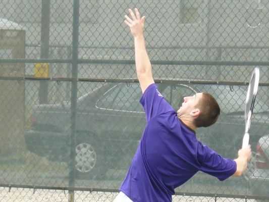 Junior David Teres won both of his matches in the Royals' 6-3 loss to Oneonta St. in Hilton Head, South Carolina.