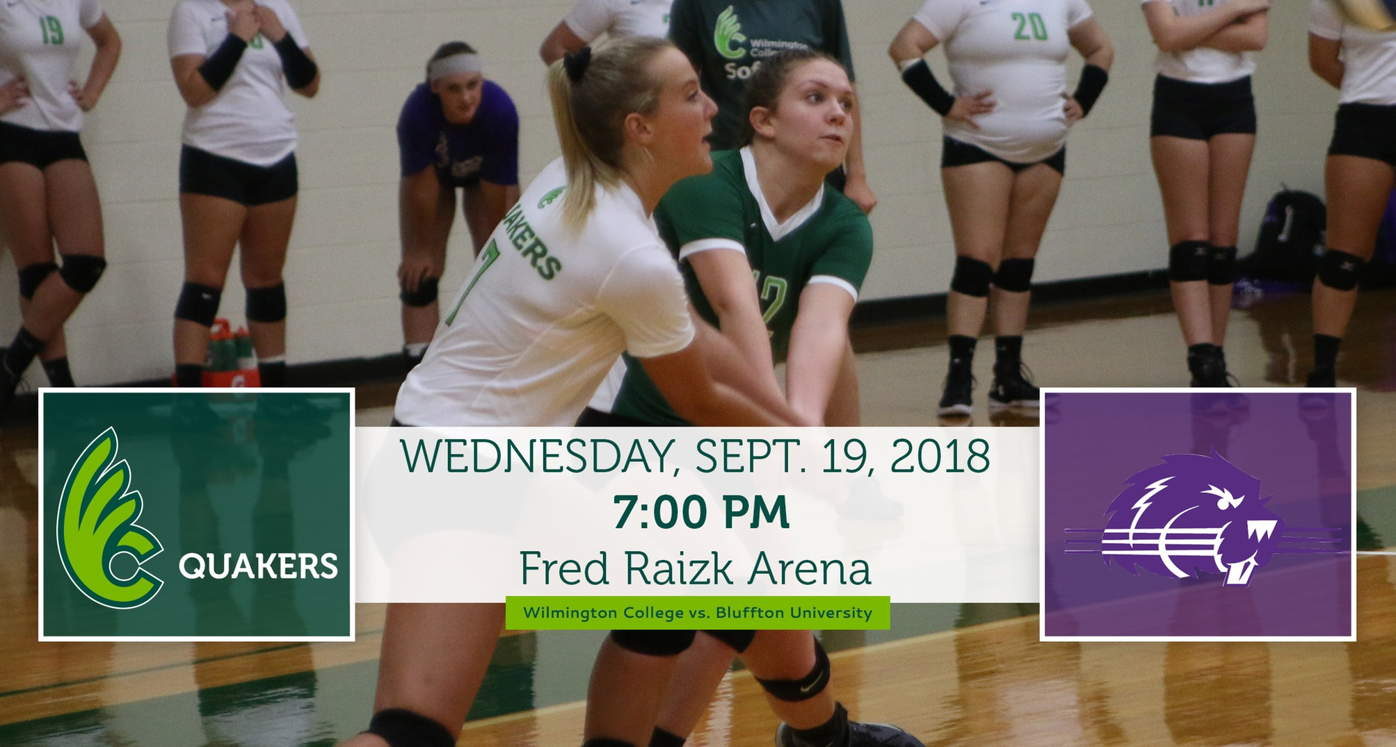 Volleyball Battles Bluffton at Home on Wednesday