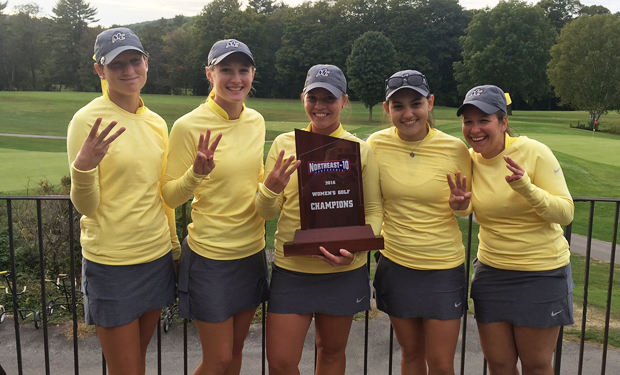 THREE-PEAT! Merrimack Wins 2016 NE-10 Women's Golf Championship