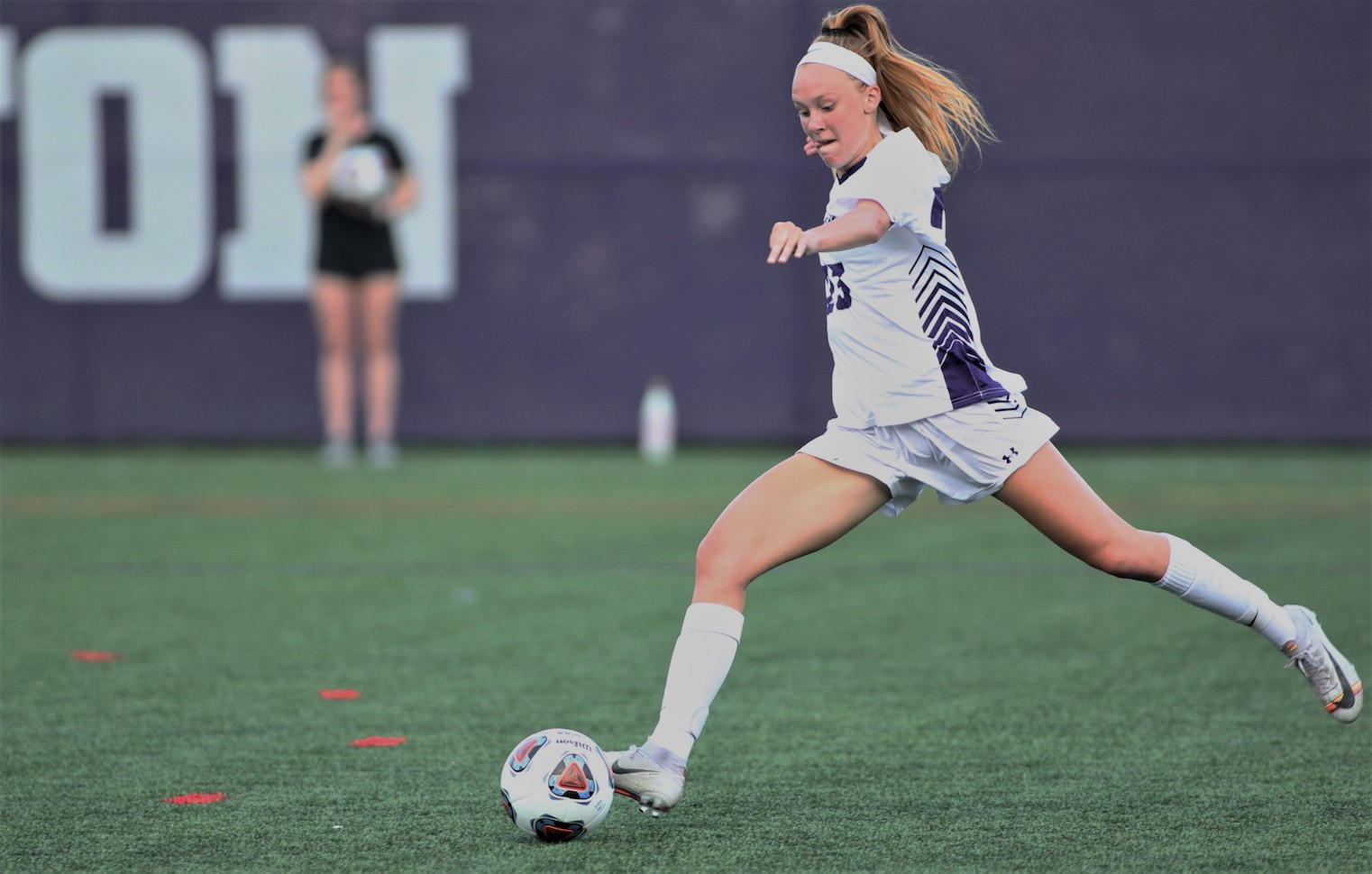 Junior Mazie Stiles took a match-high seven shots on the evening at Penn State Berks on Wednesday, but she was unable to find the back of the net in an eventual 1-0 loss for the Royals on the road. © Photo by Timothy R. Dougherty / doubleeaglephotography.com