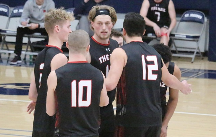 Men's Volleyball Blanked by Wentworth