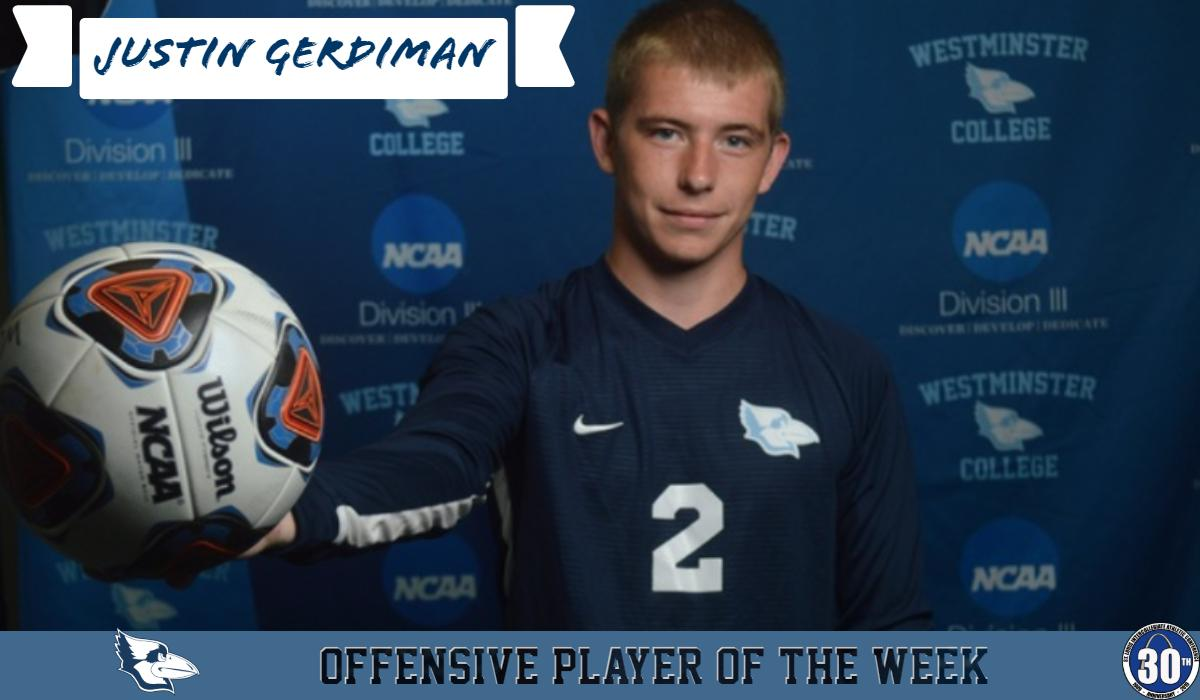 Gerdiman Named SLIAC Offensive Player of the Week