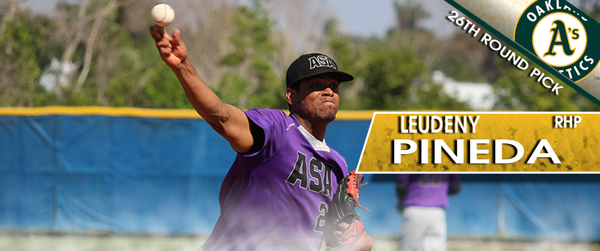 Leudeny Pineda Drafted by Oakland Athletics; First ASA Miami Player Selected in MLB Draft