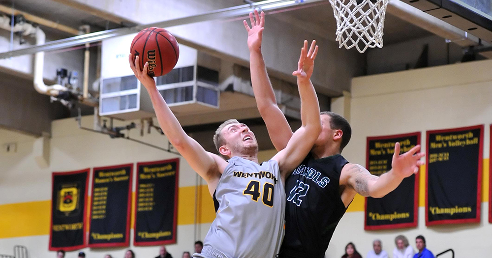 Henseler's Late Three Lifts Men's Basketball to First Win