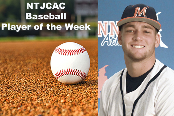 NTJCAC Baseball Players of the Week (April 1-7)