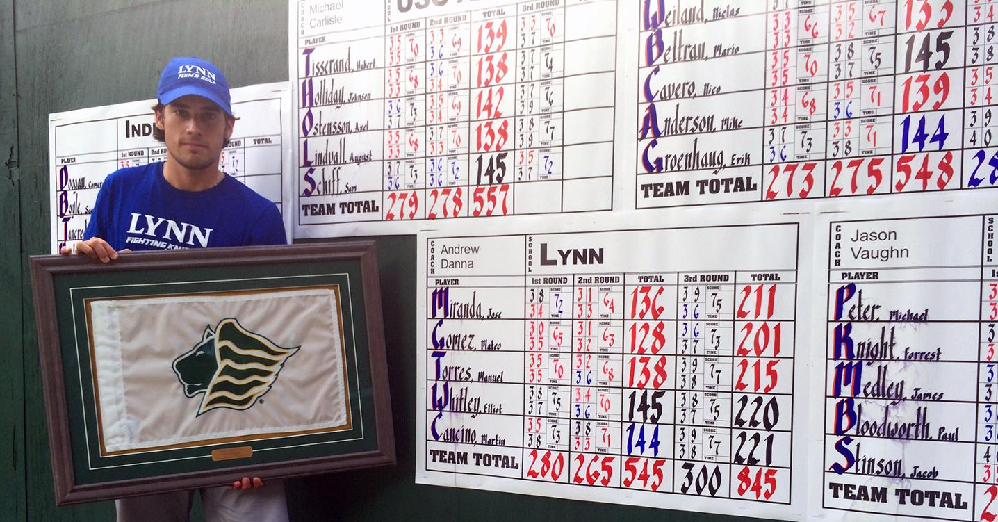 Gomez Sets School Record in Saint Leo Invitational Victory