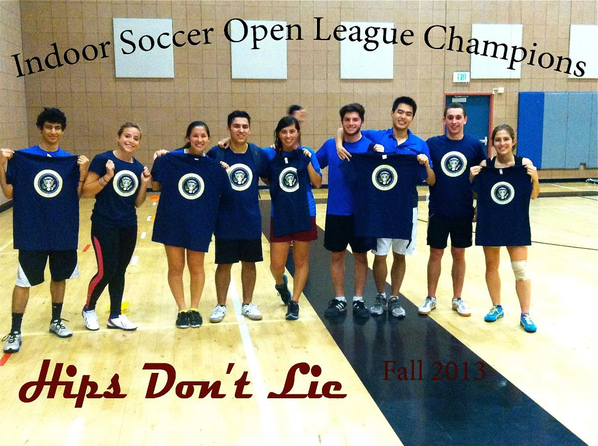 2013 Indoor Soccer Open League Champions