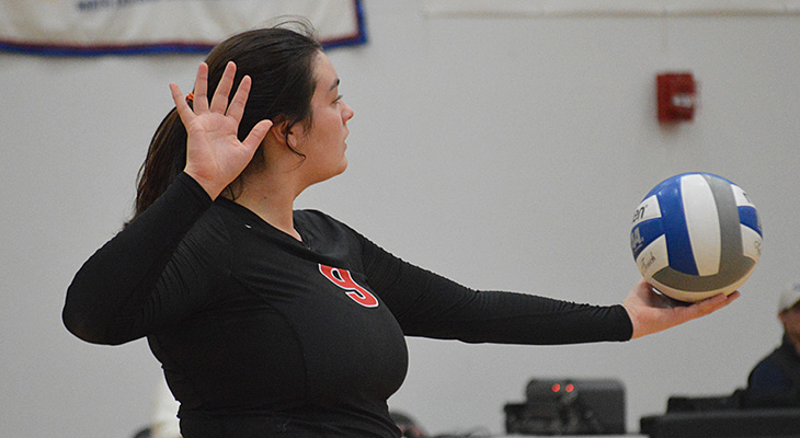 Women's Volleyball Cruises To Pair Of NEAC Wins