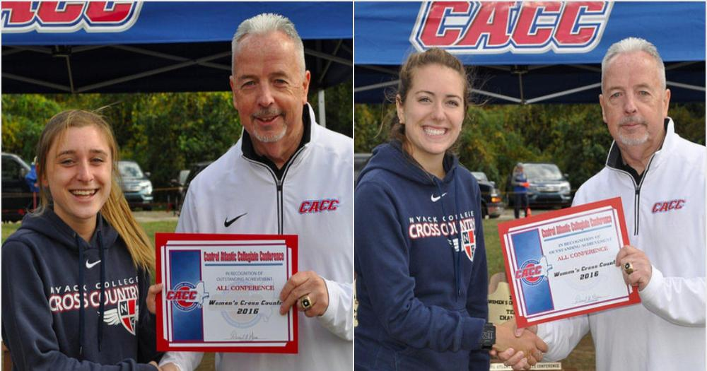 Women's Cross Country finishes 4th at CACC Championship, Nash and Frazer with All-Conference honors