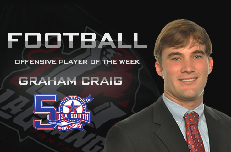Football: Craig earns second USA South Offensive Player of the Week award
