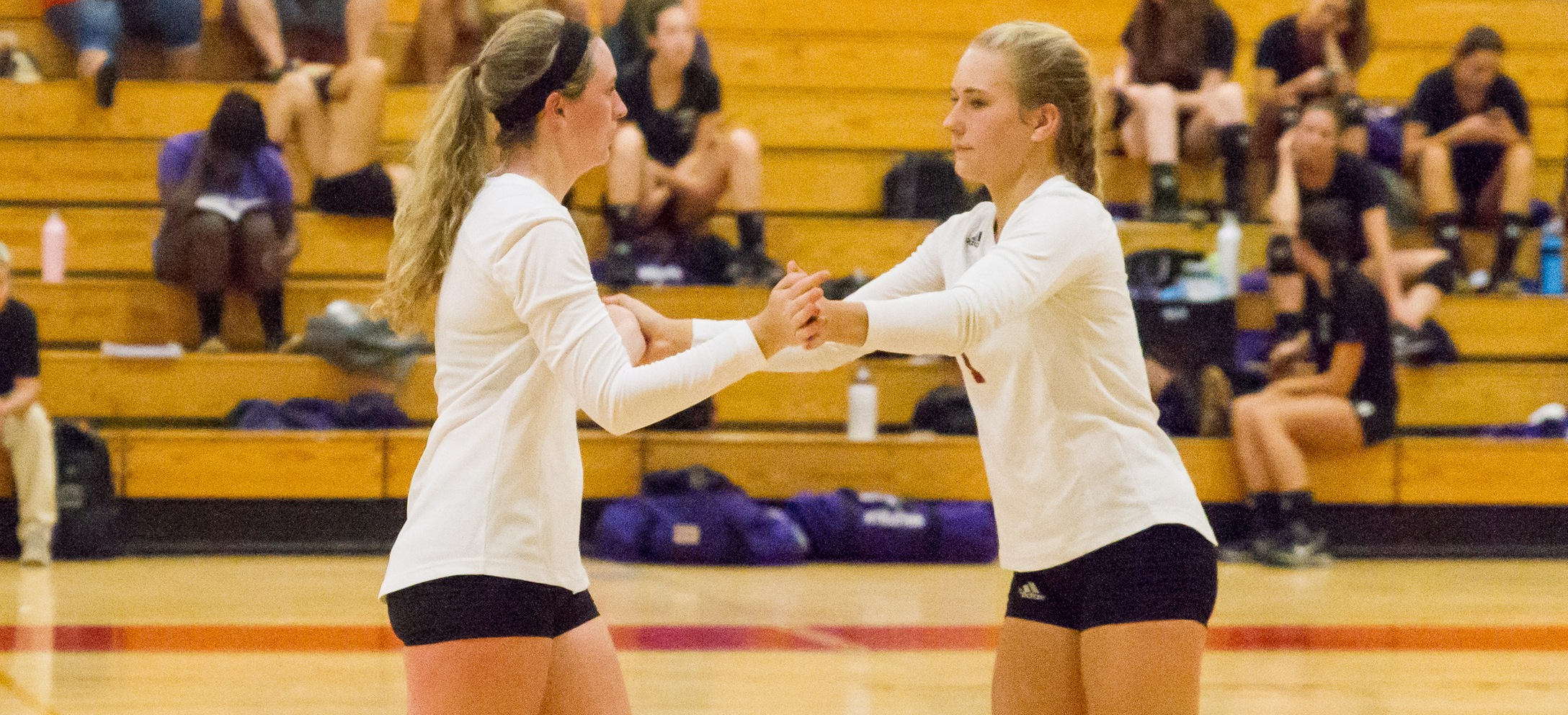 Women's Volleyball Drills Anna Maria, USJ For GNAC Trimatch Sweep