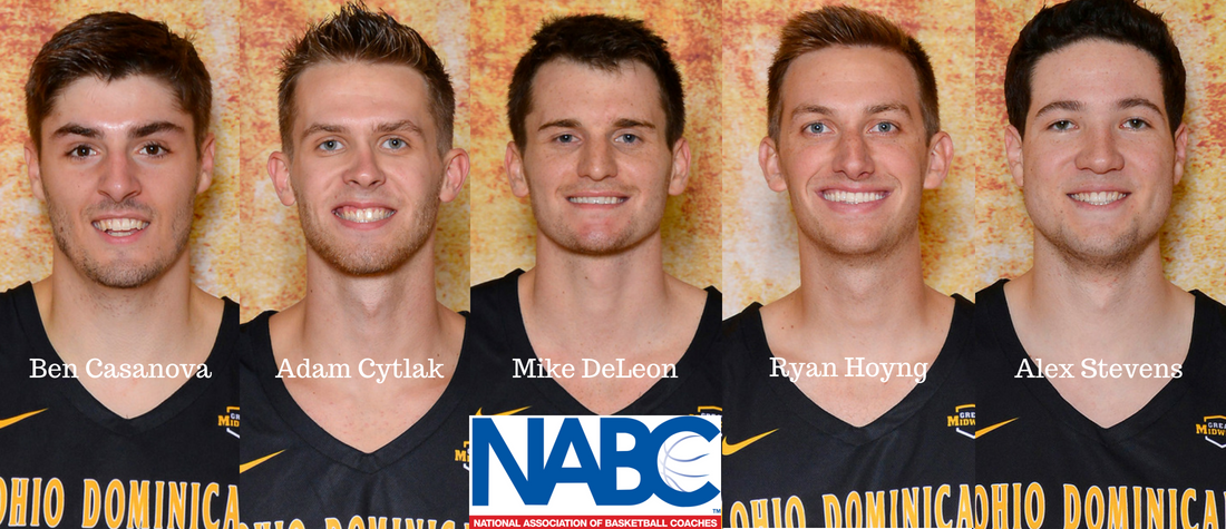 Men's Basketball Has Five Named to NABC 2017-18 Honors Court
