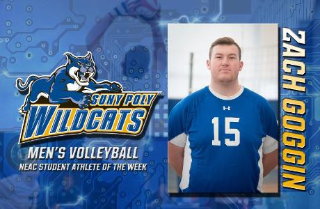 MVB: Goggin Named NEAC Student-Athlete of the Week after a 164 assist week.