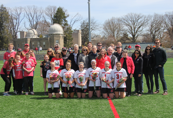 No. 25 Women's Lacrosse Breezes Past Ursinus on Senior Day, 19-3