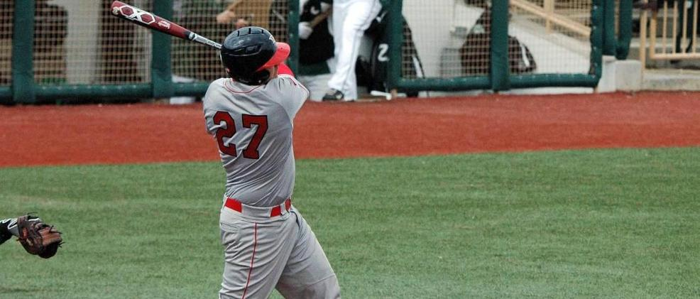 Luke Valutis had the only RBI for SVSU in its game Sunday against the Lakers