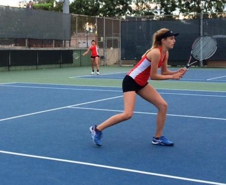 Laura Berther, a freshman from Switzerland, won in both singles and doubles vs. Bakersfield.