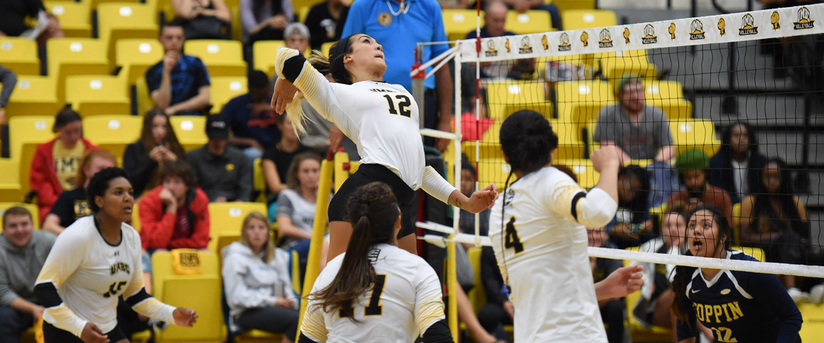 Volleyball Sweeps Coppin State in Home Opener Tuesday Night