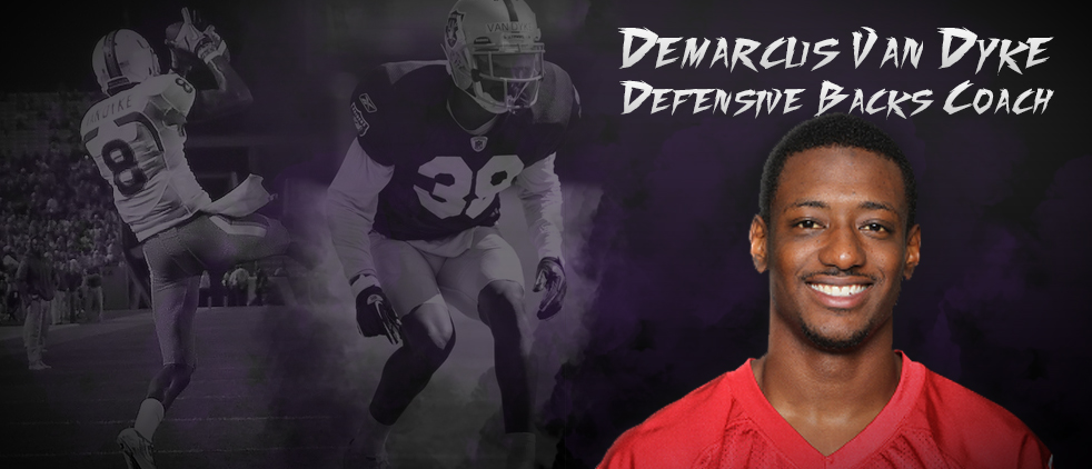 DeMarcus Van Dyke Hired To Coach Defensive Backs
