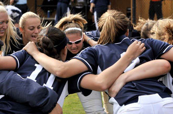 Softball falls to No. 10 Emory, 12-0, and Rochester, 8-2