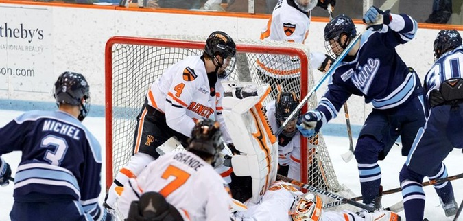 Ferland saves 40 as Princeton blanks Maine