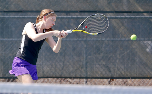 Sophomore Emily Walsh won both of her matches today to help the Royals down Juniata College, 5-3, in the semifinals of the Landmark Tournament Thursday afternoon at the Royal Courts.  Scranton is two-time defending Landmark Conference champion and will be making its fourth consecutive championship match appearance Saturday.