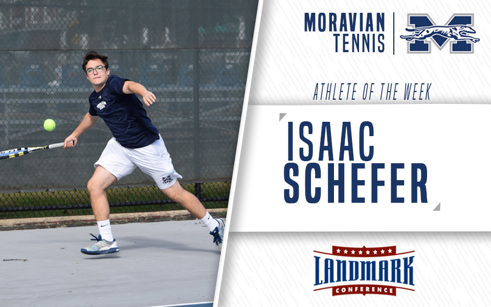 Isaac Schefer named Landmark Conference Men's Tennis Athlete of the Week.