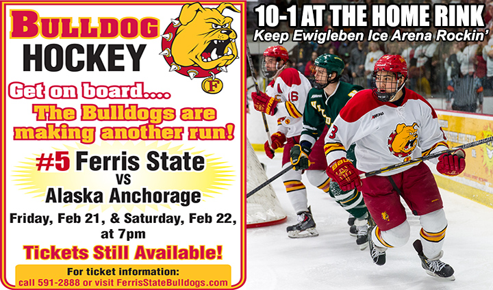 Ferris State Continues Quest For WCHA Crown At Home This Week; Buy Tickets In Advance!