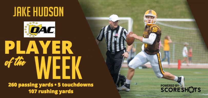 Hudson Earns First Career OAC Football Offensive Player of the Week Honor
