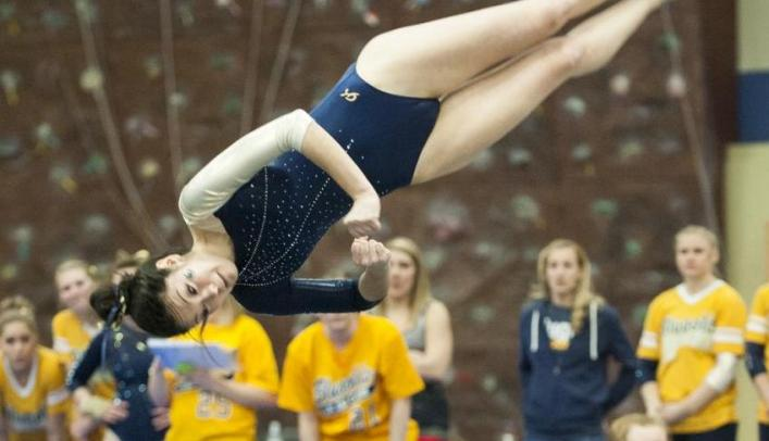 Blugold Gymnasts End Regular Season at Winona State