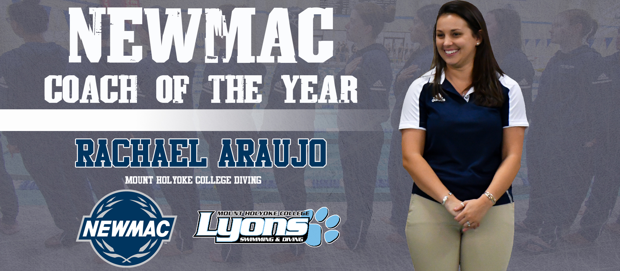 Araujo Named NEWMAC Women's Diving Coach of the Year
