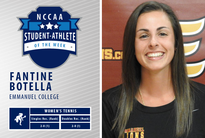 Fantine Botella named NCCAA Student Athlete of the Week!