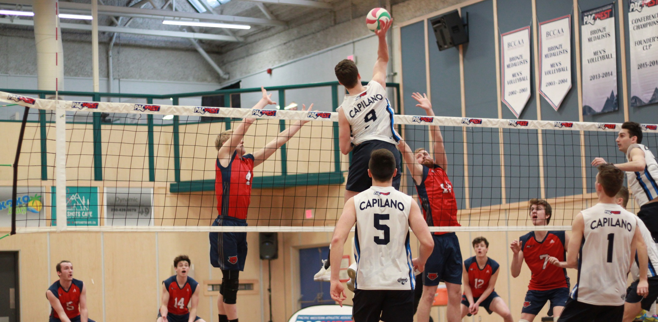 CapU downed CBC in straight-sets on Thursday to advance to the PACWEST semis. Photo courtesy College of the Rockies.