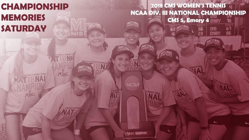 CMS women's tennis celebrates the national title