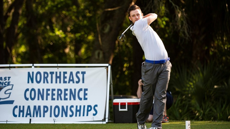 Men's Golf Mantains Lead After Second Day of NEC Championships
