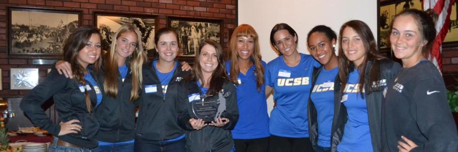 The UCSB women's tennis team was honored by the Santa Barbara Tennis Patrons for community service.