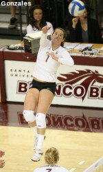 SCU Volleyball Travels To Utah To Open The 2008 Season