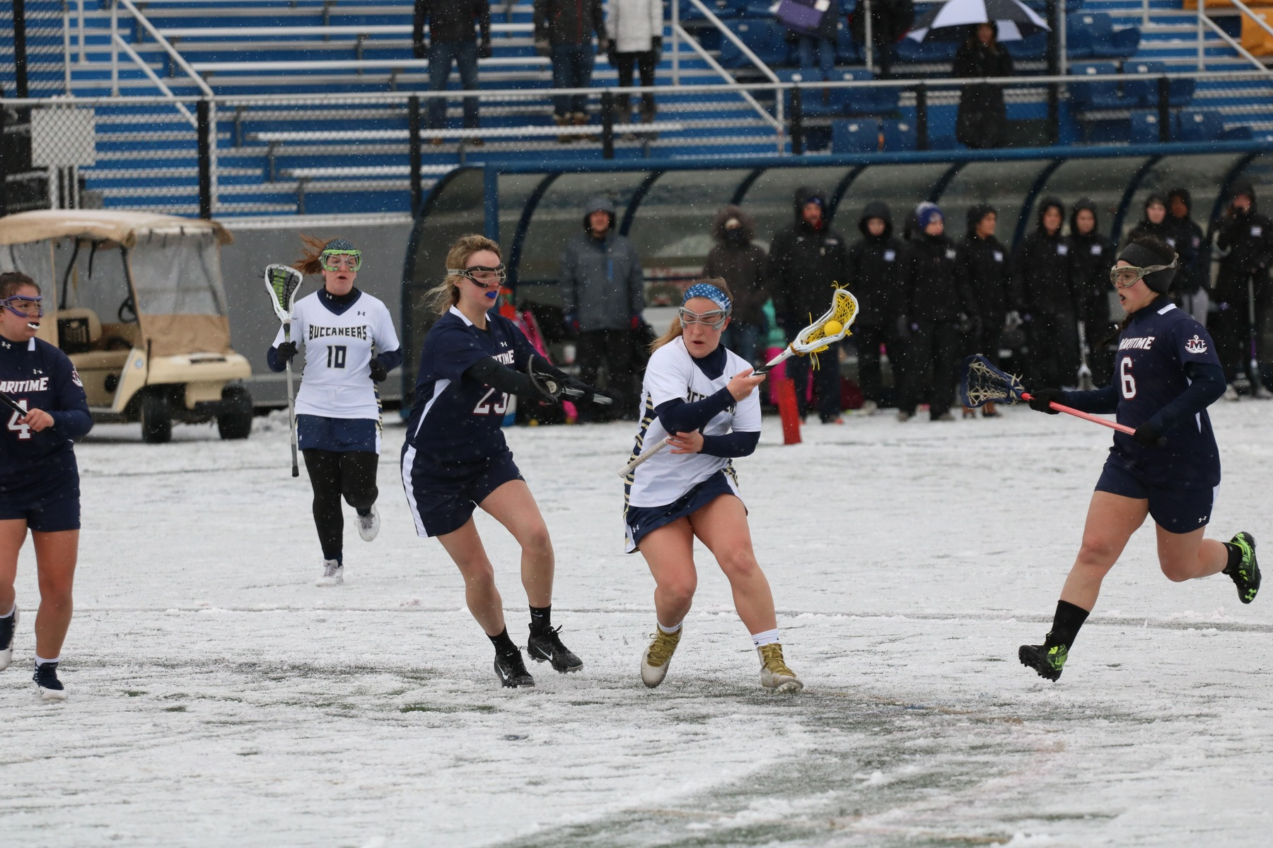 Privateers Win Maritime Classic over Bucs in Snowy Buzzards Bay
