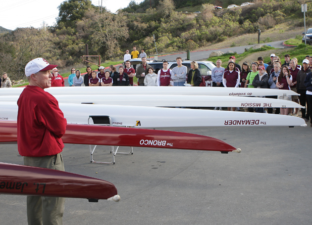 SCU Men's Crew Rows New Boat for First Time